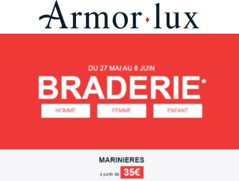 Zoom sur braderie en ligne Armor Lux