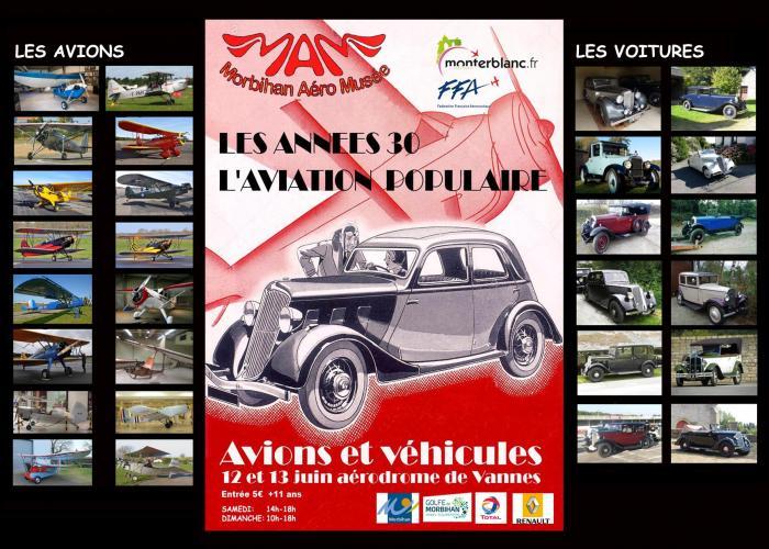1_Exposition : année 30, avions et voitures d'époque