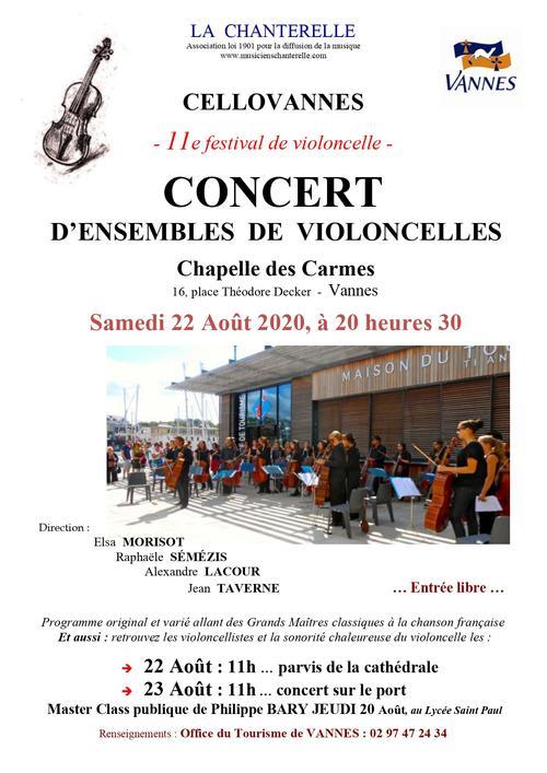 Concert violoncelles Vannes