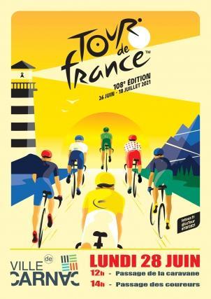 Passage du tour de France à vélo à Carnac