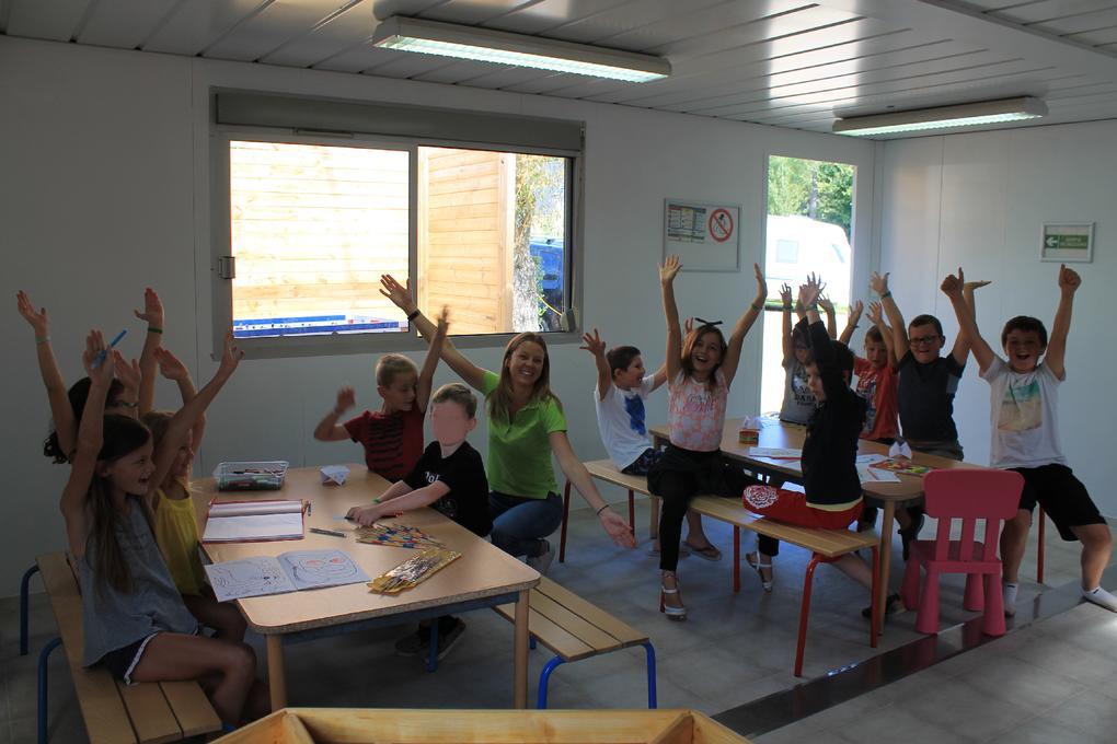 club enfants au camping Saint Laurent à Ploemel