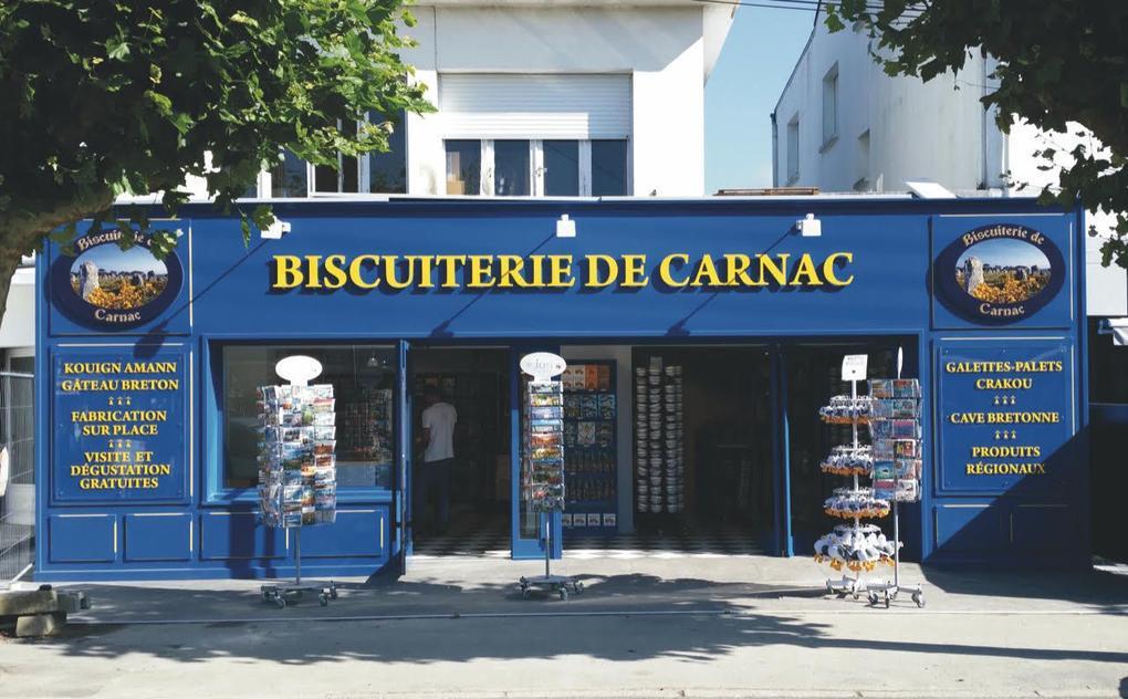 Façade - boutique - commerce - biscuiterie de Carnac - arnac - Morbihan Bretagne Sud