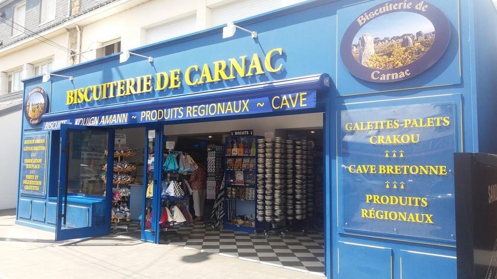 Façade - boutique - commerce - Biscuiterie de Carnac - Carnac - Morbihan Bretagne Sud