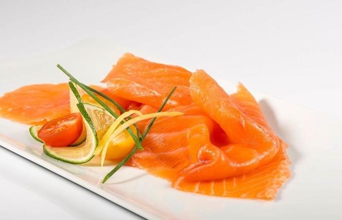 assiette de saumon saumonerie du loch carnac