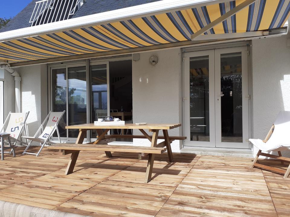 terrasse location de vacances à Carnac