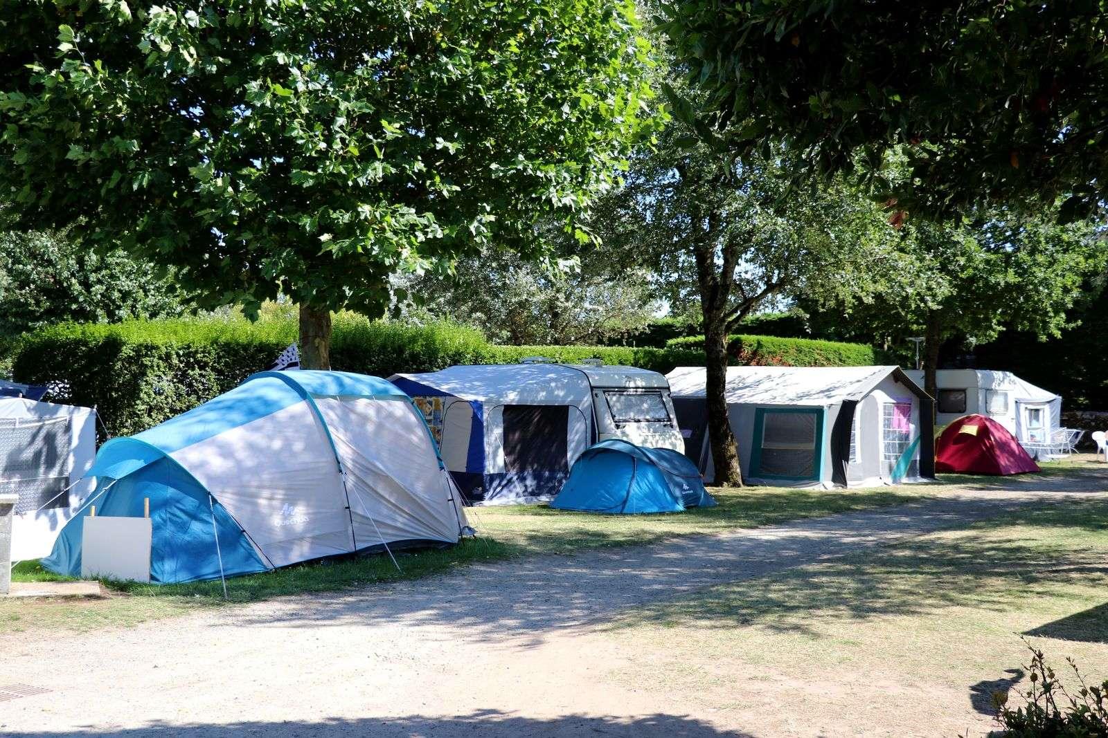 Emplacements tentes - Camping de Kersily - Plouharnel - Morbihan Bretagne Sud