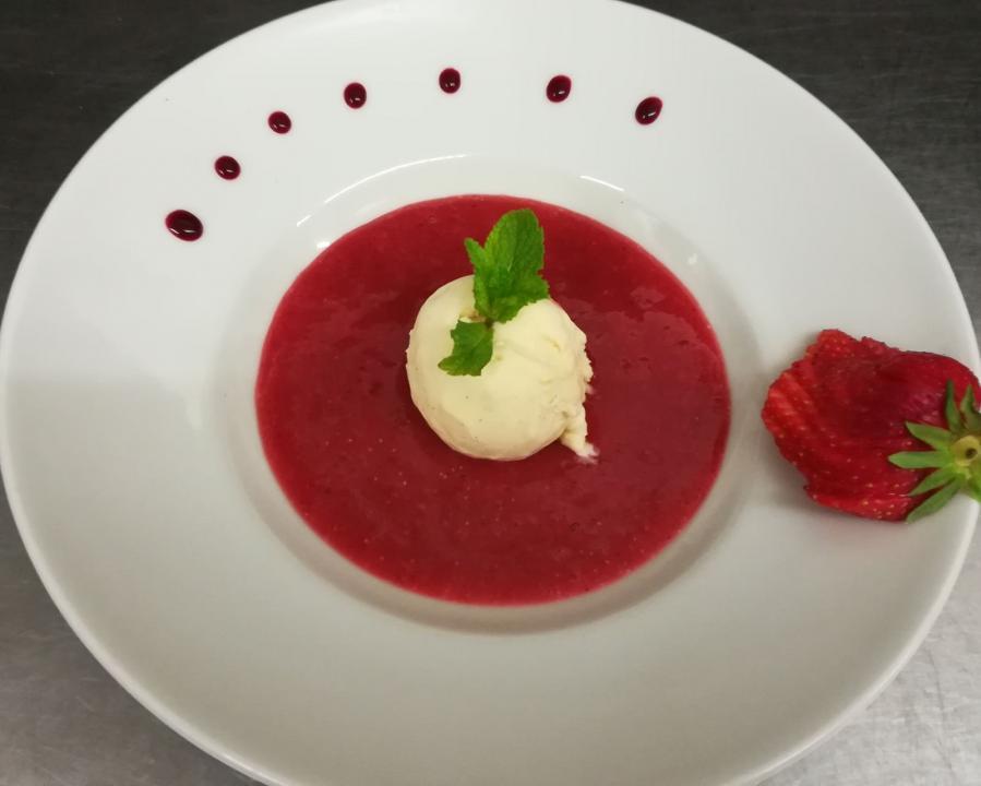 glace sur coulis_Carnac_Restaurant le kreiz