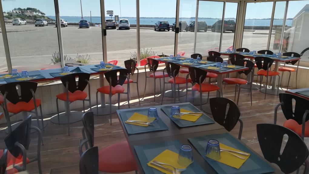 Restaurant le kreiz à Carnac_face à la mer